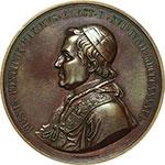 obverse:  Pio IX  (1846-1878), Giovanni Mastai Ferretti Medaglia anno I, per l amnistia.