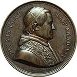 obverse:  Pio IX (1846-1878), Giovanni Mastai Ferretti Medaglia annuale, anno XIV.