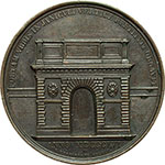 reverse:  Pio IX (1846-1878), Giovanni Mastai Ferretti Medaglia annuale, anno XIV.
