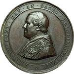 obverse:  Pio IX (1846-1878), Giovanni Mastai Ferretti Medaglia straordinaria 1862, A. XVI per l inaugurazione della linea ferroviaria Velletri-Ceprano.
