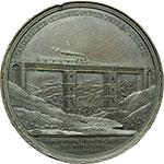 reverse:  Pio IX (1846-1878), Giovanni Mastai Ferretti Medaglia straordinaria 1862, A. XVI per l inaugurazione della linea ferroviaria Velletri-Ceprano.