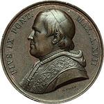 obverse:  Pio IX (1846-1878). Medaglia annuale,anno XVII.