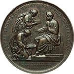 reverse:  Pio IX (1846-1878). Medaglia annuale,anno XVII.