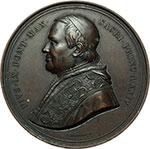 obverse:  Pio IX  (1846-1878), Giovanni Mastai Ferretti Medaglia massimo modulo, 1869 per il XX Concilio Ecumenico.