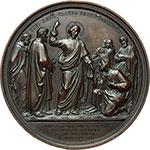 reverse:  Pio IX  (1846-1878), Giovanni Mastai Ferretti Medaglia massimo modulo, 1869 per il XX Concilio Ecumenico.