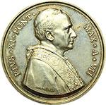 obverse:  Pio XI (1922-1939). Medaglia annuale, anno VII.