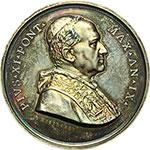 obverse:  Pio XI (1922-1939), Achille Ratti Medaglia annuale, anno IX