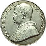 obverse:  Pio XI (1922-1939). Medaglia annuale, anno X.