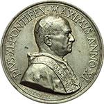obverse:  Pio XI (1922-1939), Achille Ratti Medaglia annuale, A. XI. Nuova Pinacoteca Vaticana.