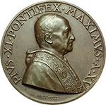 obverse:  Pio XI (1922-1939), Achille Ratti Medaglia A. XV, per l esposizione della stampa cattolica mondiale in Vaticano.