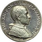 obverse:  Pio XII (1938-1959). Medaglia annuale, anno II.