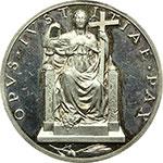 reverse:  Pio XII (1938-1959). Medaglia annuale, anno II.