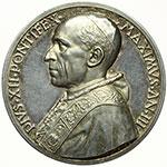 obverse:  Pio XII (1939-1958), Eugenio Pacelli Medaglia annuale, anno III.