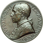 obverse:  Pio XII (1938-1959), Eugenio Pacelli. Medaglia annuale, anno V.