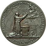 reverse:  Pio XII (1938-1959), Eugenio Pacelli. Medaglia annuale, anno V.