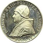 obverse:  Giovanni XXIII (1958-1963), Angelo Roncalli Medaglia annuale, anno IV.