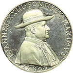 obverse:  Giovanni XXIII (1958-1963), Angelo Roncalli Medaglia anno V.