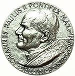 obverse:  Giovanni Paolo II (1978-2005), Karol Wojtyla Medaglia 1986 per la vista del Pontefice in Romagna.