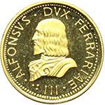 obverse:  Ferrara  Alfonso I d Este (1505-1534) Medaglia commemorativa del 1969.