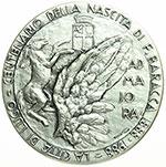 reverse:  Lugo  Francesco Baracca (1888-1918) Medaglia 1988 per il centenario della nascita.