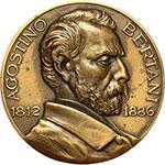obverse:  Milano  Agostino Bertani (1812-1886), Medico patriota e politico Medaglia 1952 per il XVI Congresso Nazionale D Igiene.