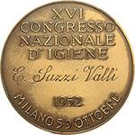 reverse:  Milano  Agostino Bertani (1812-1886), Medico patriota e politico Medaglia 1952 per il XVI Congresso Nazionale D Igiene.