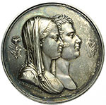 obverse:  Napoli  Maria Carolina Ferdinanda di Borbone (1798-1870) Duchessa di Berry Medaglia 1820 per la nascita di Enrico V, Conte di Chambord e Duca di Bordeaux.
