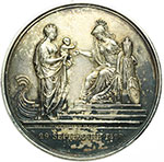 reverse:  Napoli  Maria Carolina Ferdinanda di Borbone (1798-1870) Duchessa di Berry Medaglia 1820 per la nascita di Enrico V, Conte di Chambord e Duca di Bordeaux.
