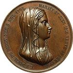 obverse:  Napoli  Maria Carolina Ferdinanda di Borbone (1798-1870) Duchessa di Berry Medaglia 1820 per la nascita del Duca di Bordeaux.