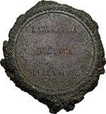 reverse:  Napoli   Medaglia in lava per l eruzione del Vesuvio del 16 aprile 18(7)9, raccolta dal Duca Della Torre.