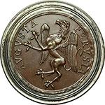 obverse:  Perugia   Medaglia di merito in bronzo con bordo in argento per l Accademia delle Belle Arti Pietro Vannucci.