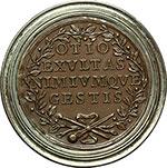 reverse:  Perugia   Medaglia di merito in bronzo con bordo in argento per l Accademia delle Belle Arti Pietro Vannucci.