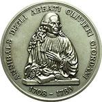 obverse:  Pesaro  Annibale Degli Abbati Olivieri Giordani (1708-1789) Coppia di medaglie in AG ed AE per la biblioteca e musei olivierani.