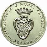 reverse:  Pesaro  Annibale Degli Abbati Olivieri Giordani (1708-1789) Coppia di medaglie in AG ed AE per la biblioteca e musei olivierani.