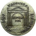 reverse:  Rimini   Medaglia celebrativa per il bimillenario dell Arco di Augusto.
