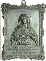 obverse:  Rimini   Placca 140x110 mm per il miracolo della Vergne che mosse gli occhi, venerata nel tempio di S. Chiara
