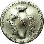 obverse:  Roma   Medaglia 1964 per il IV centenario della morte di Michelangelo Buonarroti (1475-1564).