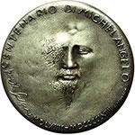 reverse:  Roma   Medaglia 1964 per il IV centenario della morte di Michelangelo Buonarroti (1475-1564).