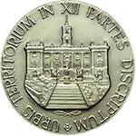 reverse:  Roma   Medaglia 1970 per il decentramento amministrativo.