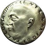 obverse:  Roma   Medaglia 1971 per il centenario della nascita di Carlo Alberto Salustri, in arte Trilussa (1871-1950).