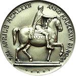 reverse:  Roma   Medaglia 1972 per il V centenario dei Musei Capitolini.