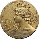 obverse:  San Marino   Medaglia 1907 per il primo anniversario dell Arengo.