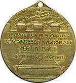 reverse:  San Marino   Medaglia 1908 per il IV congresso nazionale per la Pace.