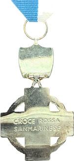 reverse:  San Marino   Medaglia al merito della Croce Rossa Sammarinese.