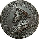 obverse:  Trento  Cristoforo Madruzzo (1512-1578) Cardinale Principe Vescovo di Trento Medaglia circa 1570.