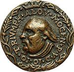 obverse:  Venezia  Alvise Leonardo Mocenigo (1625-1657) Medaglia 1650, per la battaglia navale contro i Turchi per la conquista di Candia (Herakliou).