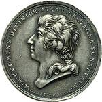 obverse:  Venezia  Luigi Lodovico Marchesi (1754-1829), cantante milanese esibitosi a Venezia Medaglia celebrativa 1701.