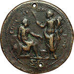 reverse:  Galba (68-69) Medaglia del XVI secolo, bottega di Valerio Belli.