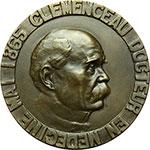 obverse:  Francia  G.Clemenceau (1841-1929), medico e statista Medaglia 1933. Commemorativa del Congresso Medico 11 novembre 1933.