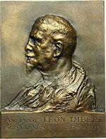 obverse:  Francia  Prof. Leon Imbert (Medico) Placchetta rettangolare 1937. Dimensioni 55.5X73.
